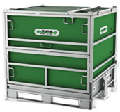 Unifold 1000 liter IBC Containers