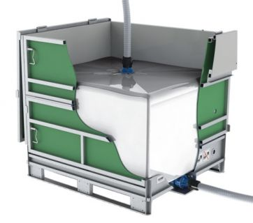Folding intermediate bulk containers