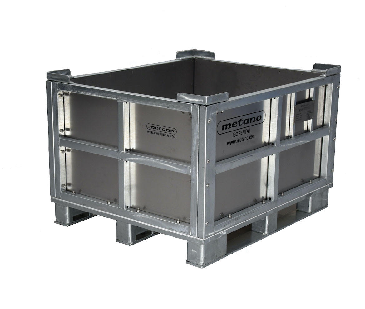 APPROVED NON /& HAZARDOUS NEW 1000 LITRE IBC STEEL PALLET GALVANISED CAGE UN